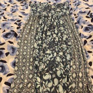 Loft strapless M long dress